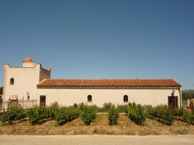 Organic wine estate's building nearby Perpignan
