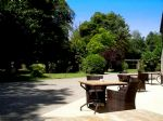 Patio with view across the park of 3 hectares 70 ares